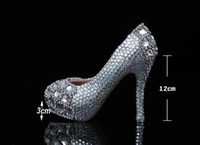 Wedding Heels Flat Heel 2014 Silver plus size high heel crystals and rhinestones bridal wedding shoes Diamond Lady Shoes for Wedding Graduation Party Prom Shoes