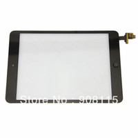 Wholesale 5pcs Black white Replacement Touch Screen Glass Digitizer IC Chip Front Lens For iPad Mini