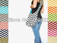 Wholesale 12 Color New Design Chevron Infinity Messenger Bag Chevron Diaper Bag Purse Tote or Camera Bags Handbag