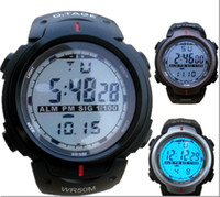 Wholesale Cool Men s Swim Dive Waterproof Outdoor Top Quality Brand Sports Digital Watches Style With PU Strap