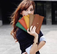 Wholesale 100PCS New Arrival Fashion Lady Wallets Leather Credit Card Tote Envelope Clutch Bags For Women Wallet Purse