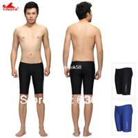 Men Bikinis Patchwork FINA Standard Yingfa same speedo quality shorts mens swim swimming Jammers sharkskin swimwear waterproof swimming trunks