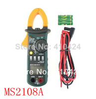 Digital Only Yes MS2108A Mastech MS2108A 4000 AC DC Current Clamp Meter backlight Frq Cap CATIII vs FLUKE hol