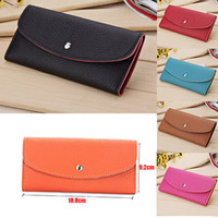 Wholesale Hot Sale New Arrive Fashion Casual PU Leather Wallet Women Clutch Purse Colorful Lady Brand Wallets