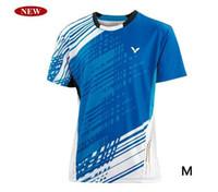 Wholesale Men Tops T shirts Victor men s table tennis badminton T shirt