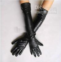 Wholesale New Fashion Women s faux leather long gloves ultra long belt long design fashion women s gloves cm