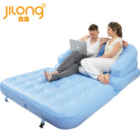 Wholesale Observing no Jilong Double Flocked inflatable sofa bed pump delivery