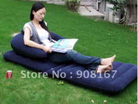 Wholesale Amphibious flocking inflatable deck chair lazy inflatable sofa bed sofa