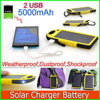 solar flashlight - Portable waterproof shockproof mAh Solar Charger and Battery Solar Panel portable power bank for Cellphone Laptop Camera MP4 Flashlight