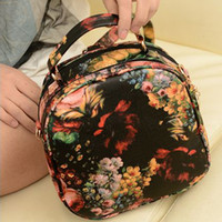 Wholesale Minnith bag preppy style oil painting peony colored drawing flower women s the trend of fashion handbag