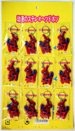 Hot Lots 60 Pcs New Spider-Man Key Chains Popular Key Ring Wholesale & Free Shipping
