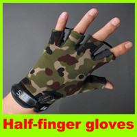 Wholesale Outdoor Gloves Adult Camping Sporting Skidproof fingerless Glove Tactical gloves Black For Women Men Gloves High quality L