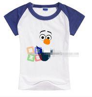 Unisex Summer Standard New Arrival 2014 Summer Children Tshirts Pattern Cartoon Design Kids T Shirt Pure Cotton Short Sleeve Child Snow Queen Tee G0393