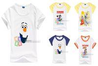 Unisex Summer Standard New Arrival 2014 Summer Children Tshirts Frozen Olaf Pattern Cartoon Design Kids T Shirt Pure Cotton Short Sleeve Child Snow Queen Tee G0393