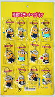 Wholesale New arrive Minion Mini plastic keychain toys Despicable Me Children minions bag hang kids gift