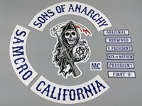 accessories bikers - Hot Selling Sons of Anarchy Embroidery twill Patches for Jacket Biker Full Size and Full Set