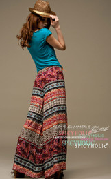 Wholesale Hot sale new Tribal totem style craft air feeling great wide pants