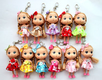 Wholesale Factory Price Dolls Key Chain with iron rings Cute Key Chain