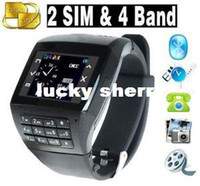 Wholesale New UNLOCKED DUAL SIM WATCH CELL PHONE SPY CAMERA MP3