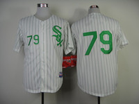 pinstripe baseball jerseys - Abreu White Green Pinstripe Baseball Cool Base Jerseys Authentic Stitched Jersey Softball Sportswear