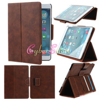 air money - For ipad air Case Vintage Retro Smart PU Wallet Book Style Leather Case Cover With Credit Card Slots Money Stand Holder for ipad air