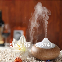 Wholesale HOT Quality Wood Grain LED Aroma Diffuser Ultrasonic Airmist Purifier Humidifier