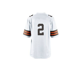 Football Boys Short Free Shipping Youth Kids #2 Johnny Manziel White 2014 American Football Elite Jerseys Rugby Stitched Authentic On Field Game Limited Jersey