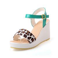Cheap Women stiletto heels sandals Best Wedge PU wedges sandals