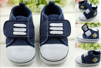 Unisex Summer Cotton Drop shipping!12 13 cm baby shoes,Denim toddler shoes,casual kids shoes,baby wear,Velcro antiskid children shoes,walker shoes.4pairs 8pcs.C