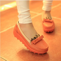 Cheap New Arrival Print Slip-on Women Shoes Leather Genuine Summer