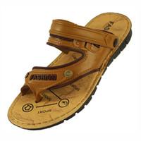 Wholesale 2014 New Fashion Sandals Casual Flip Flops Men s Sandals Beach Shoes for Men