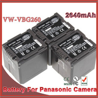 Wholesale 1pc High Capacity mAh v Li ion Camera VW VBG260 VW VBG260 Battery For Panasonic HS250 SDR SD7 HDC MDH1