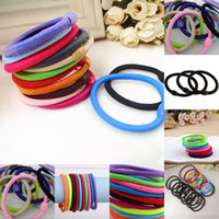 Wholesale 100pcs Women jewelry loom candy color rubber band rope new Bohemia jewelry rubber soft fabric hair accessories