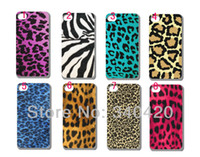 For Apple iPhone Plastic Yes 2013 Hot New style 8pcs lots wholesale luxury leopard print hard white case cover for iphone 4 4G 4S + free shipping