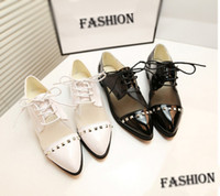 Jewelry gift+2013 Free Shipping British female brogue oxford shoes carving candy color women flat