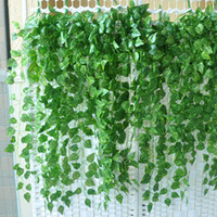 Wholesale 92cm inch Artificial Ivy Vine Fake Foliage Flower Leaf Garland Plant Home Decoration
