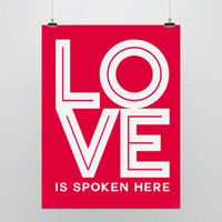 One Panel Digital printing Fashion Light Art Picture Sayings Love Spoken Red Artwork Modern Minimalist Pop Poster Prints Wall Quotes Home Decor Custom DIY Gift Canvas Painting