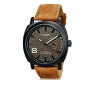 Wholesale 2014 New Curren Quartz Business Men s Watches fashion military Army Vogue Sports Casual Wristwatches High quality Outdoor men Sports Watch