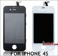 Wholesale IPhone4S LCD Screen Digitizer Touch Screen Full Assembly Replacement Best qualtity Black white