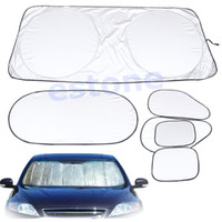 Wholesale 6 set Folding Silvering Reflective Insulation Car Window Sun Shade Visor Cover