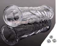 Halloween crystal sex toy - Sex products Crystal Clear Soft Silicone Condoms Penis Extend Sleeve Realistic Glans Model Sex Toys for Man With a Sided Sexy Dice