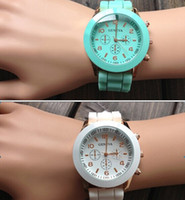 Wholesale Factory price Hot Newest Women Men geneva watch rubber candy jelly fashion unisex silicone quartz wrist rose gold colored watches