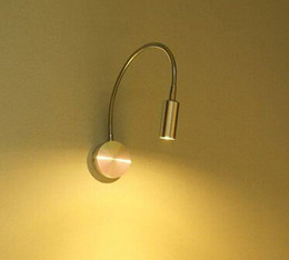 Hot sale 3W Aluminnum led flexible spotlight Power LED wall reading lamp led button switch Hight Quality Retail Sale