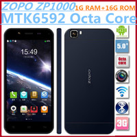 Zopo 5.0 Android Hot Sell ZOPO ZP1000 Cell phones MTK6592 Octa Core 1.7GHz 5.0 Inch 1GB RAM 16GB ROM 14.0 MP 1280*720 Android 4.2 OTG Ultrathin Smartphone