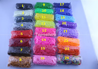 Unisex 8-11 Years Multicolor 24 colors Rainbow Loom Kit DIY Wrist Rubber Bands Rainbow Loom Bracelet for kids Rainbow Loom (600 pcs bands + 24 pcs S-clips ) 1000bag lot