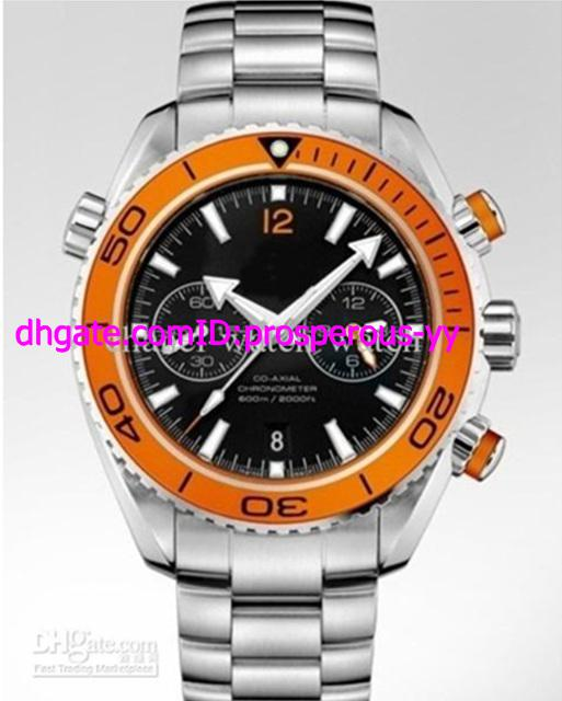 hot sale new sea planet ocean chrono auto orange bezel automatic mens watch stainless sport men. Black Bedroom Furniture Sets. Home Design Ideas