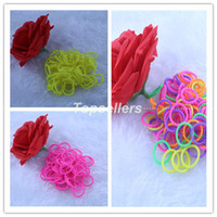 Wholesale beads pearl style Rainbow Loom Kit DIY Wrist Rubber Bands Bracelet for kids Rainbow Loom bands S clips color