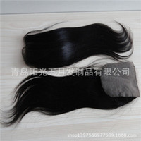 Cheap Brazilian Hair silk base closure Best Natural Color Straight straight lace closure
