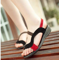 Women sandals for women 2014 - size new genuine leather PU fashion flat women sandals for women flats and women s spring summer shoes GSL1865