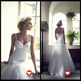 Wholesale Charming Amazing Mermaid Sexy Lace Backless Allure Wedding Dresses Bridal New Fashion